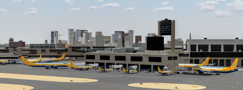 Virtual Airline Boston hub